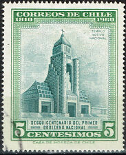 Chile Famous Architecture Votivo Temple stamp 1961