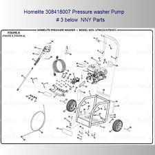 """Homelite Pressure washer 308418007 7/8"""" Hollow Shaft Triplex Plunger Pump NEW"""