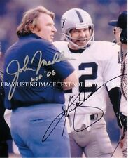 JOHN MADDEN AND KEN KENNY STABLER SIGNED AUTOGRAPH AUTO 8X10 RP PHOTO RAIDERS