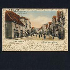 WEIDEN / Oberpfalz / Oberer Marktplatz / Schärtel Uhren Goldwaren * AK um 1900