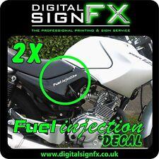 Yamaha Ybr 125 Moto Motocicleta Pegatina Calcomanía inyección de combustible x2 @ 140 X 20 mm