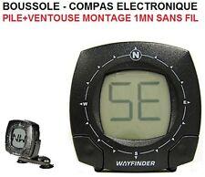 COMPAS ELECTRONIQUE A PILE MONTAGE 1MN GRAND ECRAN MOTO SCOOTER 4X4 BATEAU VELO