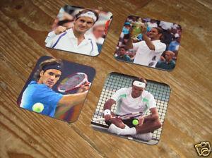 Roger Federer Tennis Legend Wimbledon Drink Coaster Set