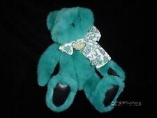 Gund Victoria Secret Bear Turquoise Plush 15 Inch 1992