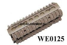 WE RIS Metal Airsoft Handguard (Tan) For M4 Series - WE0125