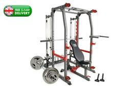 ELITE PRO SMITH MACHINE HOME GYM WITH 100KG WEIGHT SET BODYBUILDING UK NEW