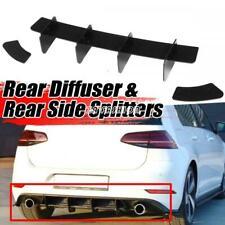 For Volkswagen GOLF 7 MK7 GTI 14-17 Rear Bumper Lip Diffuser Spoiler Splitter