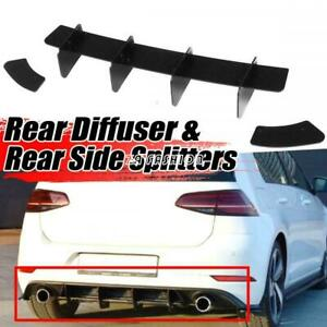 For Volkswagen GOLF 7 MK7 GTI 14-17 Rear Bumper Lip Diffuser Spoiler Splitter