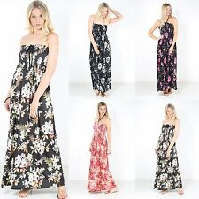 Bandeau Polyester Floral Dresses for Women