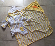 Carter's Just One You Duck Baby Towel Robe Yellow White 0-9 Months Boy Girl
