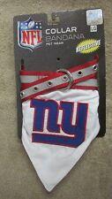 Pets First NFL Adjustable Collar Bandana-New York Giants-Reflective- L   (G 13)