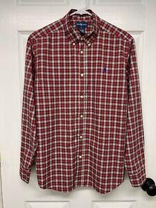 Ralph Lauren Polo Boys L/S Classic Button-Down Shirt: XL, Red Plaid, Pony