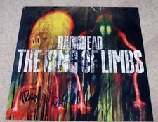 RADIOHEAD BAND SIGNED 'THE KING OF LIMBS' RECORD ALBUM FLAT PHOTO X3 W/COA