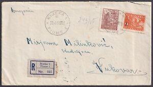 Yugoslavia, 1947-04-23 Rijeka, Fiume, Entire registered letter (with content)