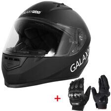 Matte Black DOT Adult Dual Visor Full Face Motorcycle Street Sports Helmet M~L