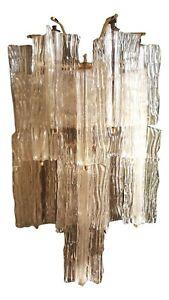 Wall Lamp Glass Bark Original venini Signed Design toni zuccheri