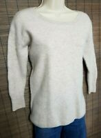 PURE COLLECTION 100% PURE CASHMERE JUMPER SWEATER S LIGHT BEIGE 923