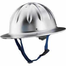 Unpainted Aluminum Forester Full Brim Aluminum Hard Hat