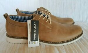 Men's Derby Shoes by Members Only Expert Tan Size US 11 New