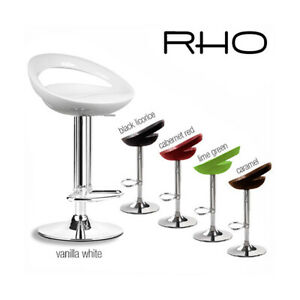 NEW! MODERN BARSTOOL - ADJUSTABLE SWIVEL BAR STOOL CHAIR - ADJUSTING HEIGHT -RHO