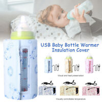 Food Heater Car Travel Portable USB Baby Bottle Warmer Printed Insulation Cover