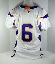 2006 Minnesota Vikings  #6 Game Issued White Jersey