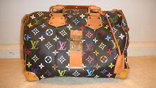 Authentic Louis Vuitton Multicolor 30 Speedy Handbag Purse