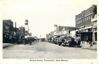 Tucumcari New Mexico Postcard Street Scene, Horse Wagon, Coffee Shop #83867