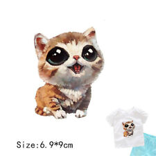 Cat Heat Transfer Press Iron On Patches Washable Printed Sewing Accessories LJ