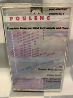 Music For Winds & Piano by Francis Poulenc (Cassette)
