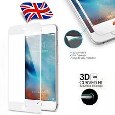 Carbon Fiber 3D Curved Screen Protector Tempered Glass for iPhone 8 Plus White