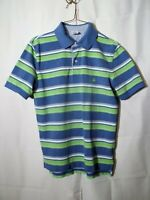 Brooks Brothers 1818 Men's Polo Shirt-M-Slim Fit-Blue-Green-Striped