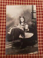 RPPC- !! Beautiful Little Girl From Walden, NY/Newburgh, NY areas. Real Photo!