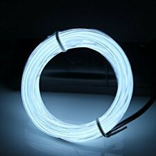 New LED EL Wire Neon Light 5M Glow Rope Tube Car Dance Party 12V - Crystal Blue