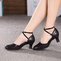New Women Latin Dance Salsa Shoes Indoor Tango Ballroom Heeled Dancing Shoes