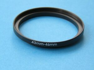 43mm to 46mm Step Up Step-Up Ring Camera Lens Filter Adapter Ring 43mm-46mm
