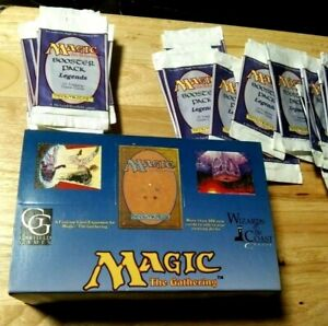 MTG EMPTY LEGENDS DISPLAY BOX  20 GENTLY OPENED BOOSTER WRAPPERS (NO CARDS)