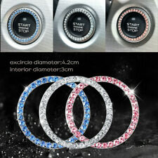 Auto Car Truck Vehicle Button Start Switch Diamond Ring Decorative Accessories
