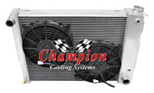 "2 Row Perf Radiator W/ 2 10"" Fans for 1967 68 1969 Chevy Camaro Small Block Eng"