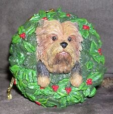 """All Decked Out"" Yuletide Yorkies Christmas Ornament The Danbury Mint"