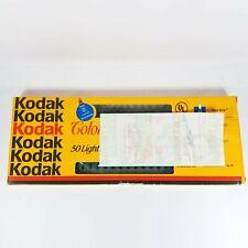 VTG Kodak Color of Christmas Indoor/Outdoor Lights NEW 50 Light Set 24 Ft Clear