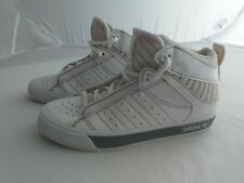 ADIDAS boys Size 1 (33) white hi-tops, excellent condition.  FAST POSTAGE