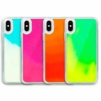 Neon Sand Phone Case for iPhone | Liquid Glitter Purple Beach Exxxtra