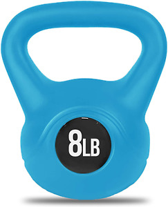 NEW Nicole Miller 8LB Kettlebell Weight Blue with Durable Coated Material