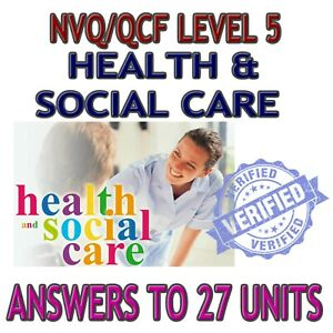NVQ QCF DIPLOMA LEVEL 5 HEALTH AND SOCIAL CARE ADULTS 27 UNITS ANSWERS / HELP