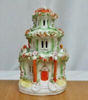 Antique Staffordshire Pottery Pastille Burner   -  81169