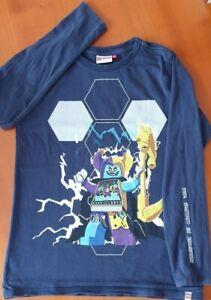 Lego wear T-Shirt Langarm dunkelblau Gr. 140 Jungen TOP!