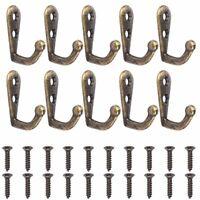 Stainless Steel 20x Heavy Duty Wall J Hooks Door Coat Hanger Mount Organization