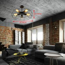 NEW Industrial Fan Shape Metal Cage Ceiling Light Chandelier Pendant Light