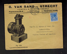 1938 Utrecht Netherlands Airmail Cover to USA Commercial Advertising Picture